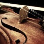 A close up of a violin